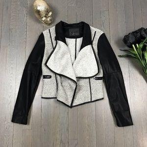 [BLANKNYC] Asymmetrical Vegan Faux Leather Jacket